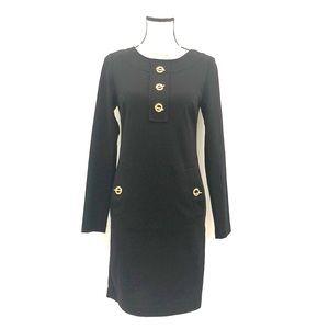 Michael Kors XS Long sleeve little black dress